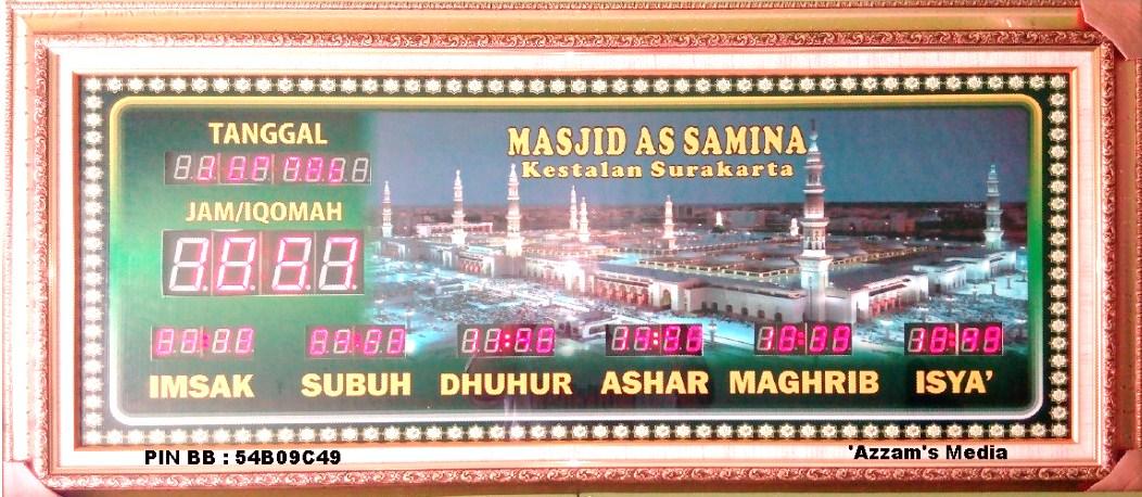 Jam Digital Masjid Solo Surakarta Jawa Tengah